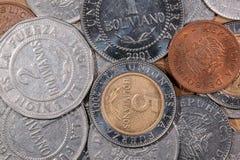 色的世界硬币 免版税库存照片