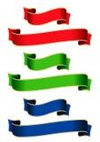色的丝带 免版税库存照片