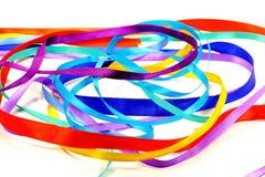 色的丝带 免版税库存图片