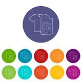 色的事象的洗衣粉设置了传染媒介颜色 向量例证