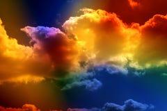 色的云彩 免版税库存照片