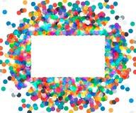 色的五彩纸屑长方形框架  免版税库存照片