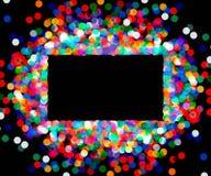 色的五彩纸屑长方形框架  免版税库存图片
