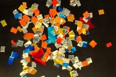 色的五彩纸屑 免版税库存图片
