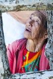色的伊哥洛特人banaue菲律宾 免版税库存照片