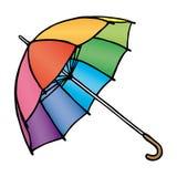 色的伞 免版税库存图片
