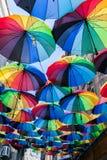 色的伞 免版税库存照片