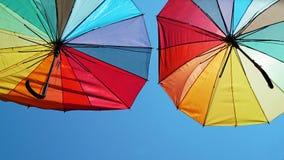 色的伞 库存图片
