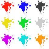 色的传染媒介墨水例证 库存照片