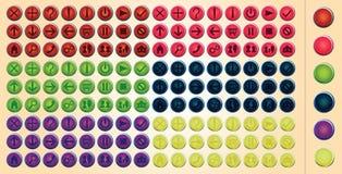 色的传染媒介网按钮 免版税库存照片