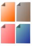 色的便条纸 免版税库存照片