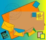 色的信包 免版税库存照片