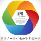 色的信息图表 库存例证