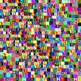 色的信件抽象拼贴画  免版税库存图片