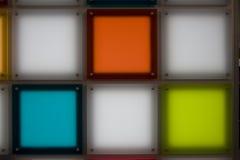 色的光亮正方形 免版税库存图片