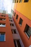 色的公寓 免版税库存图片