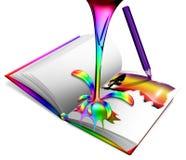 色的写生簿 免版税图库摄影