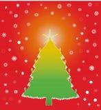 色的冬天圣诞树 免版税库存图片