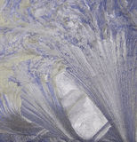 色的冰纹理 免版税库存照片