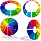 色的几何 免版税库存图片