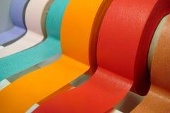 色的分配器磁带 免版税库存图片