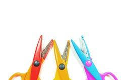 色的剪刀与 免版税库存图片