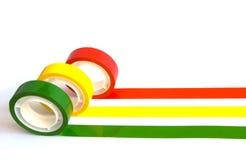 色的办公室粘性磁带 免版税库存照片