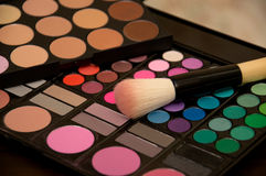 色的化妆用品 免版税库存照片