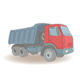 色的卸车,传染媒介例证 免版税库存照片