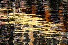 色的反映水 免版税库存照片