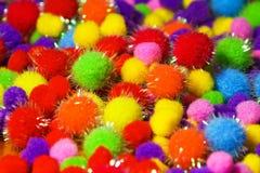 色的发光的泡沫球 库存照片