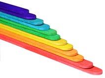 色的台阶 免版税库存照片
