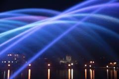 色的喷气机喷泉的美好的不可思议的抽象样式  免版税图库摄影