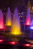 色的喷泉 免版税库存照片