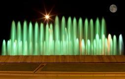 色的喷泉 库存图片