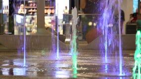 色的喷泉 影视素材