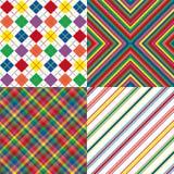 色的四个模式彩虹 免版税图库摄影