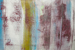色的困厄的木背景 免版税库存照片