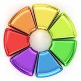 色的圆环图 图库摄影
