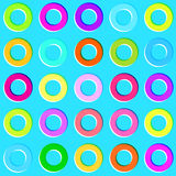 色的圈子 无缝的模式 库存照片