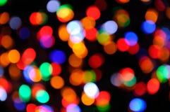 色的圣诞节假日光 库存图片