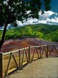 色的地球毛里求斯七 免版税库存照片