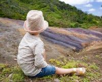 色的地球 毛里求斯 库存照片