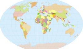 色的地球 免版税库存图片