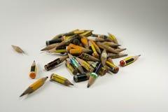 色的堆铅笔 图库摄影