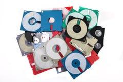 色的塑料磁盘 免版税库存照片