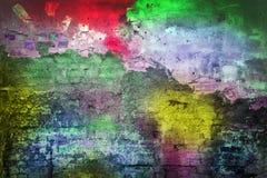 色的墙壁 库存照片