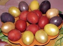 色的复活节彩蛋一个假日 免版税库存照片