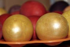色的复活节彩蛋一个假日 库存图片