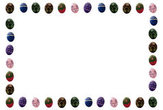 色的复活节彩蛋框架 免版税库存图片